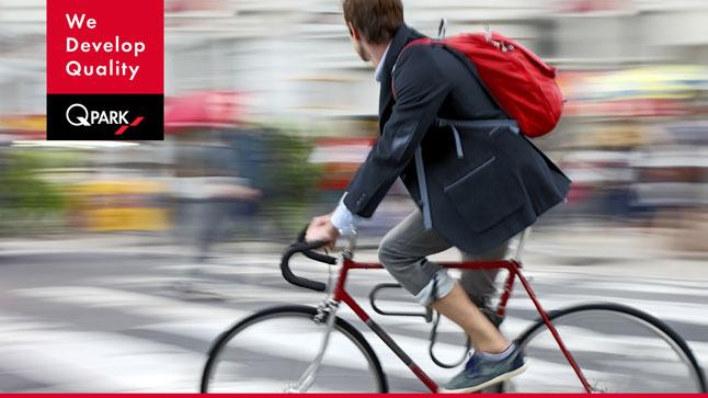 Fahrradparken in der Stadt