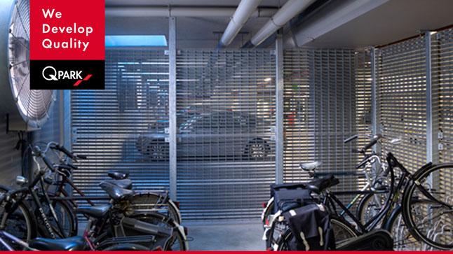 Fahrradparken Transparente Wand
