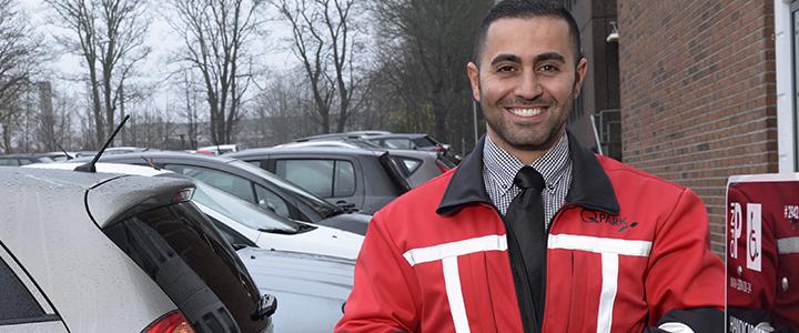 Q-Park parking attendant
