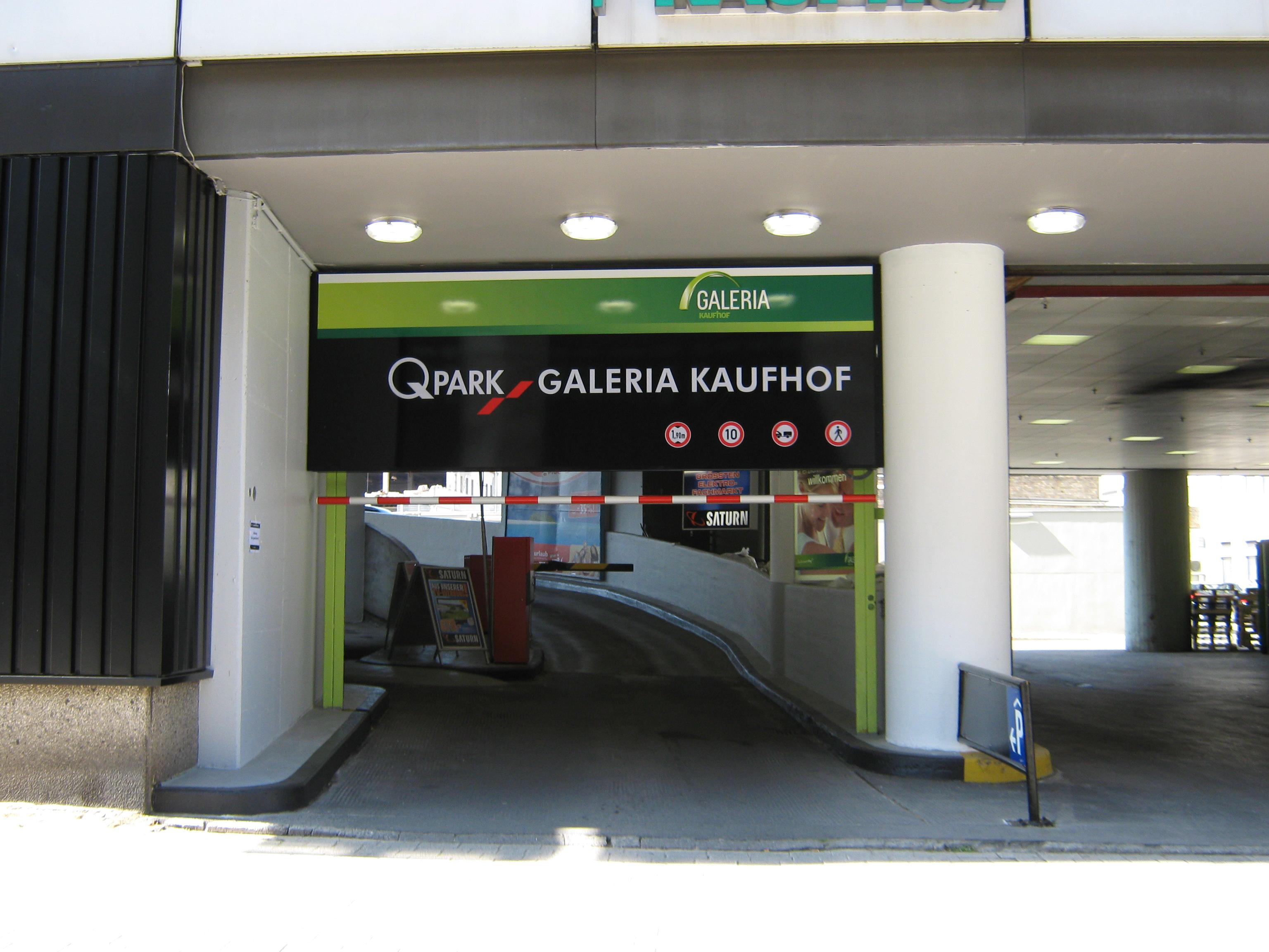 Kaufhof Kolpingstrasse Tiefgarage Dortmund Q Park