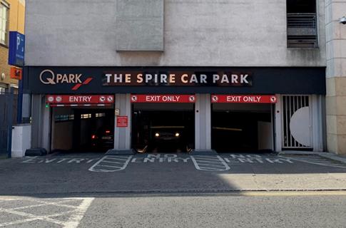 The Spire Parking Facility Dublin