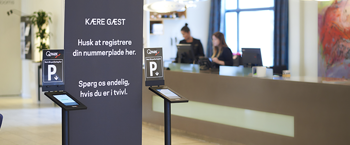 Gaesteparkering med e-park