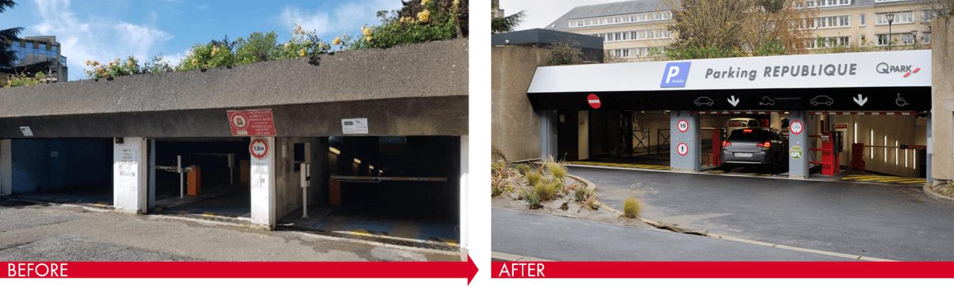 Transformation fra privat parkering til offentlig Q-Park parkering