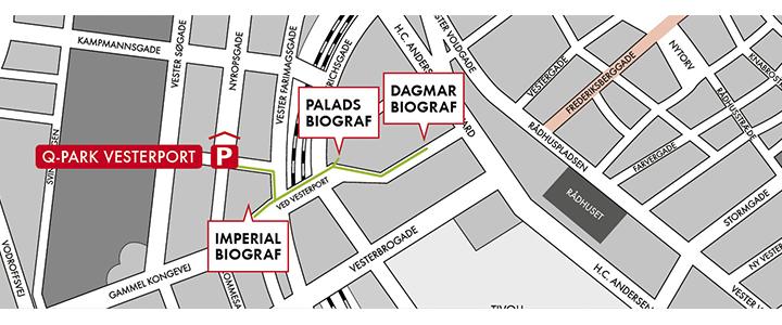 Nordisk Film Biografer - Kort over København