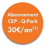 abonnement CEP abonné Q-Park