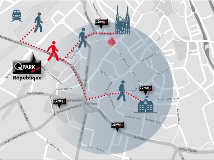 Q-Park République Chartres city map