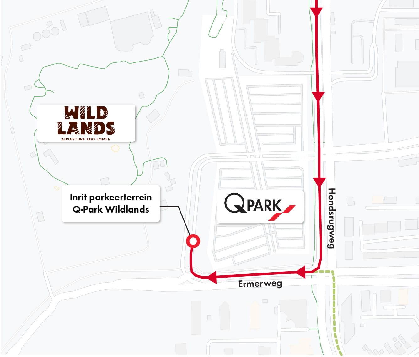Routebeschrijving Q-Park Wildlands